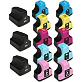 HI-VISION HI-YIELDS Compatible Ink Cartridge Replacement for HP 02 (3 Black, 2 Cyan, 2 Yellow, 2 Magenta, 2 Light Cyan, 2 Light Magenta, 13-Pack)