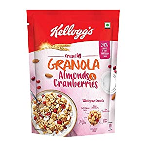 Kellogg's Crunchy Granola Almonds and Cranberries|Breakfast Cereals | Multigrain Flakes, 460g 10 51nH%2B6c9PHL. SS300
