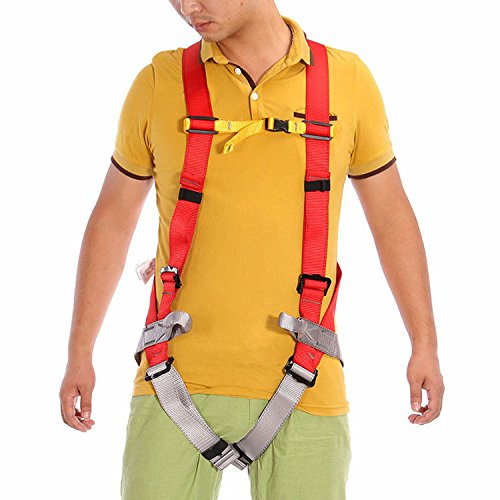 FidgetGear Professional Rock Climbing Constructon Fall Protection Full Body Safety Harness