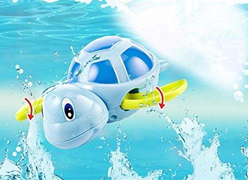 New born babies swim turtle wound-up chain small animal Baby Children bath toy classic toys ludilo figuro ludo (1piece only, random color)