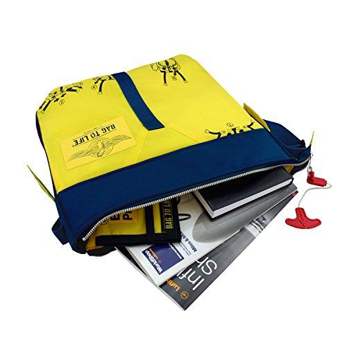 39dd4238e85b2 BAG TO LIFE Messenger Bag Classic Flyer Blue Umhängetasche UNIKAT Upcycling  aus einer Rettungsweste