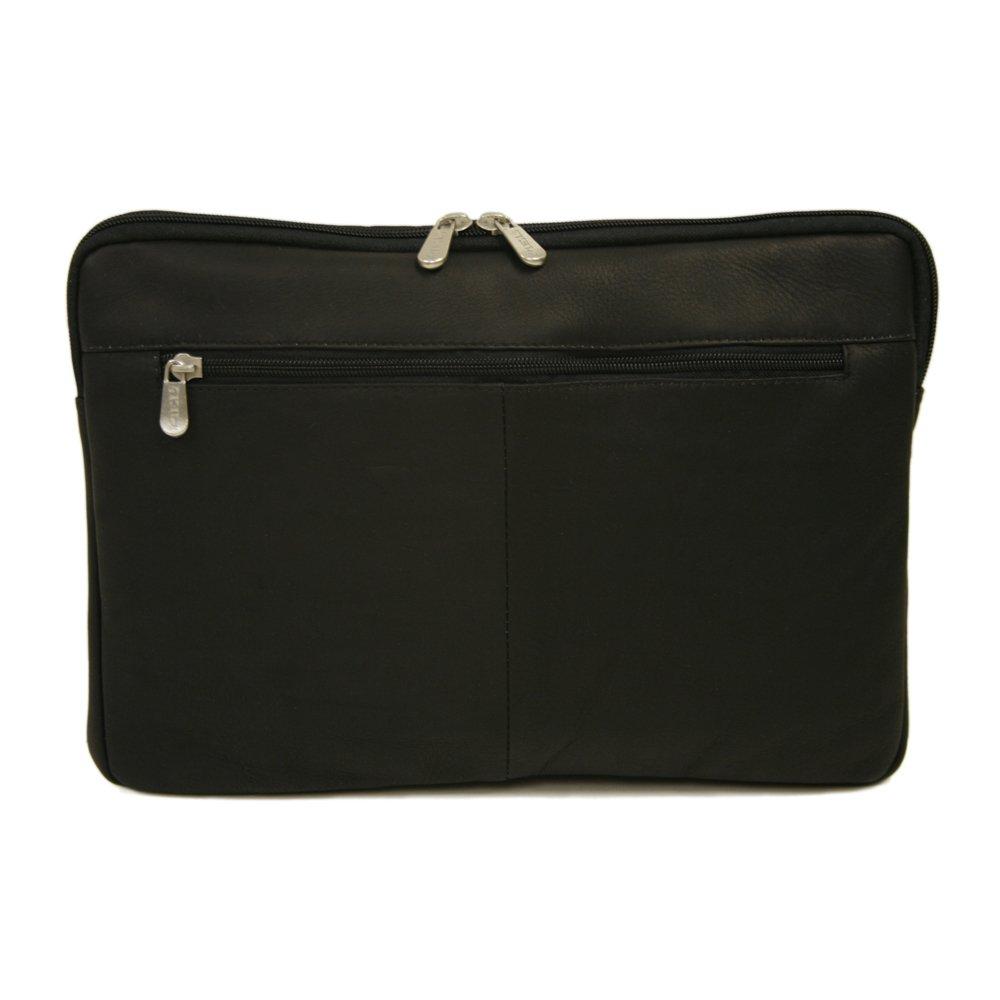 Piel Leather 2894-BLK 17In Zip Laptop Sleeve - Black B0041WZ3IC