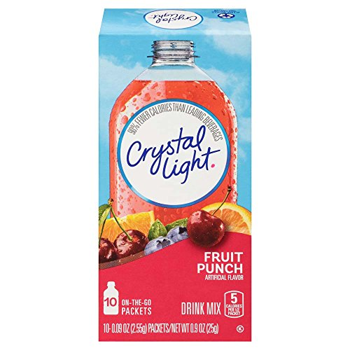 Crystal Light Juice - Crystal Light Drink Mix, Fruit Punch, On The Go Packets, 10 Count (Pack of 6 Boxes)