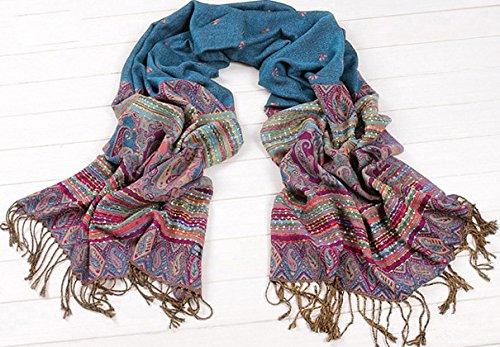 Mother's Day Gift New Fabulous Large Soft Women's Fashsion Pretty Cotton Artificial wool Acrylic Shawl - Fabulous Wool