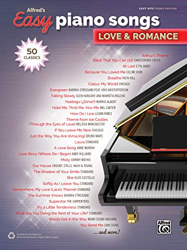 Alfred's Easy Piano Songs -- Love & Romance: 50 Classics (Song Pop Piano)