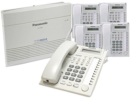 Panasonic KX-TA824 & 5 KX-T7730W Phones (Ta82493 Caller Id Feature Card)