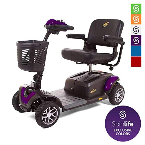 BUZZAROUND EX Extreme 4-Wheel Heavy Duty Long Range Travel Scooter (20-Inch Seat, Purple)