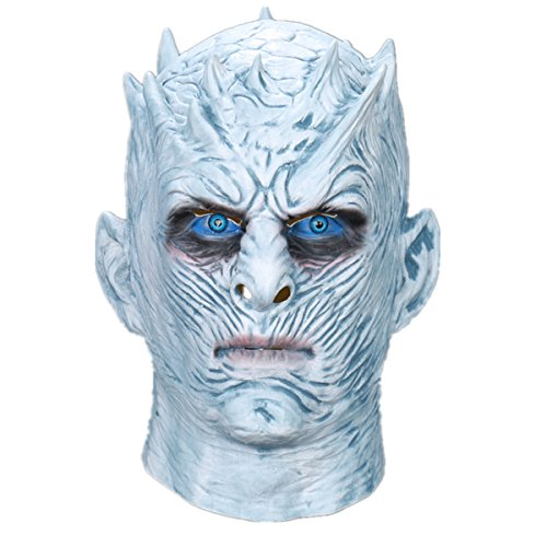Yacn Halloween Mask For Men,2017 Movie Creepy Halloween Face Mask For Adult- Game Of Thrones Mask  Halloween Movie Party White Walkers Mask& Night King Mask Latex Mask Costume Cosplay (La Vendetta Di Halloween 2017)