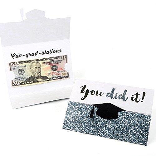 Silver Tassel Worth The Hassle - Graduation Money Holder Cards - Set of 8