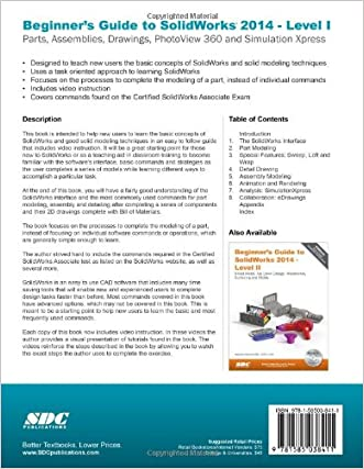 Hot Sale Beginners Guide To Solidworks 2014 Level I Smcmy