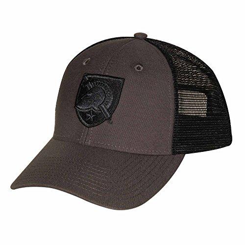 Ouray Sportswear NCAA Army Black Knights Industrial Canvas Mesh Cap, Adjustable Size, Grey/Black/Grey - Knights Mesh Cap