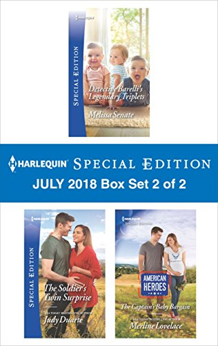 Harlequin Special Edition July 2018 Box Set 2 of 2: Detective Barelli's Legendary Triplets\The Soldier's Twin Surprise\The Captain's Baby Bargain (The Wyoming Multiples)