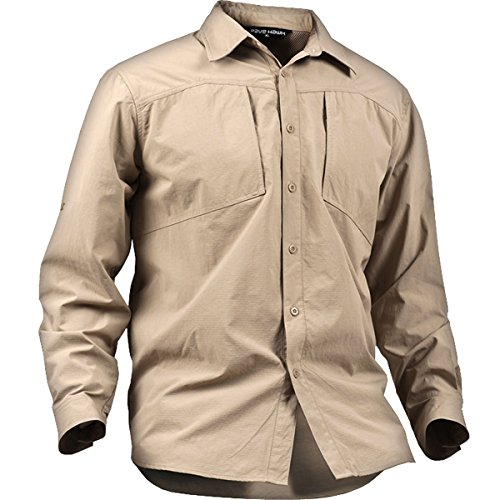 TACVASEN タクティカル メンズ シャツ 長袖 ミリタリー Tシャツ アウトドア BDUシャツ 速乾 半袖可能 春夏秋