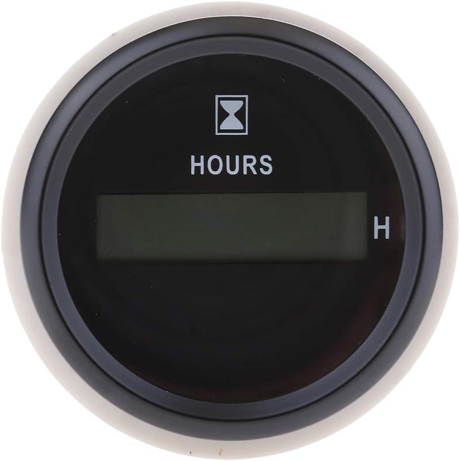 Schwarz 1 Gazechimp 1 St/ü Betriebsstundenz/ähler 52mm Digital Stundenz/ähler Mit