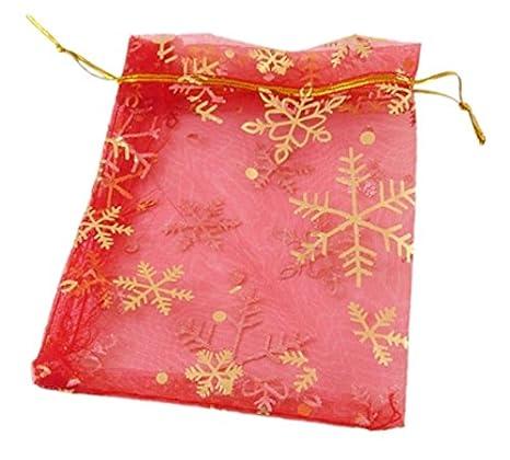 Bolsas de organza para regalo de Navidad, 11 x 16 cm, 25 ...