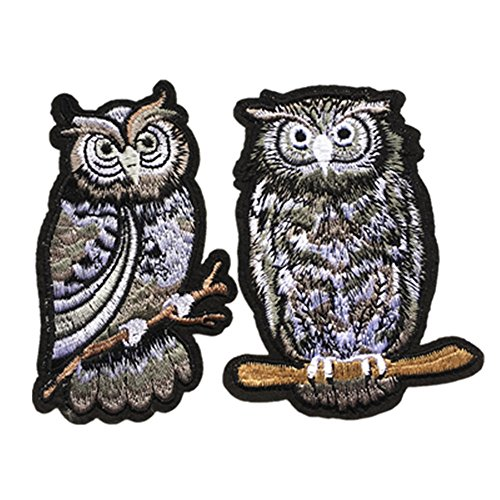 Dandan DIY 10pcs Assorted Owl Embroidered Patches Sew-on Iron-on Patch Applique Clothes Curtain Sewing Flowers Applique Home Wedding Party Decoration Diy Accessory