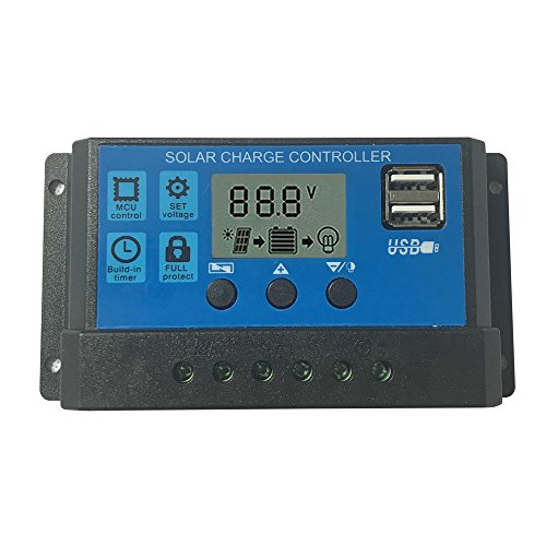 KRXNY 30A Solar Charge Controller 12V 24V Auto Battery Regulator With USB Port LCD Display