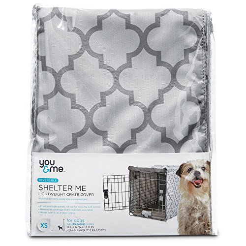 You & Me Shelter Me Lightweight Dog Crate Cover, X-Small, For Crates 18' L X 12' W X 14' H, Gray