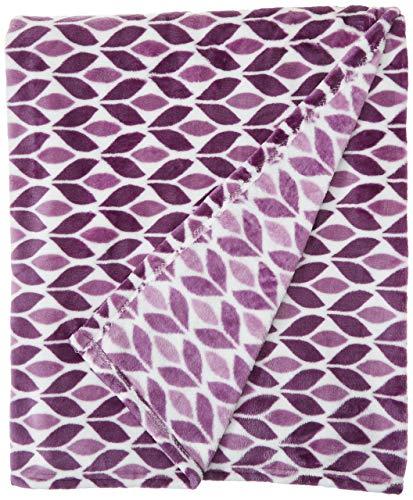 (Cozy Fleece Plush Throw Blanket, 50 x 60, Leaf)