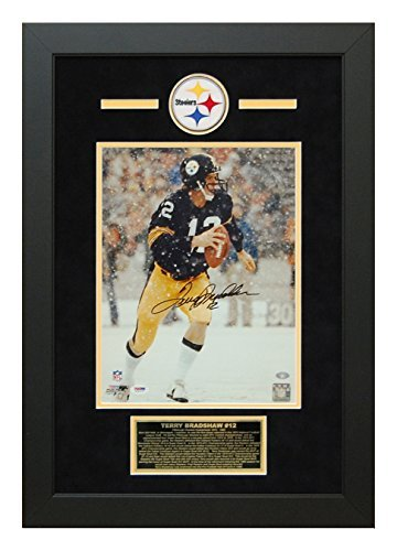 Terry Bradshaw Autographed Hand Signed Pittsburgh Steelers 11x14 Photo Custom Framed PSA/DNA Certificate