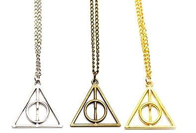 Harry Potter Deathly Hallows Halskette Anhänger schmuck cosplay Dreieck