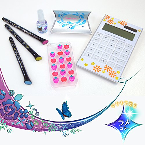 Sakura Ballpoint Pen for Decoration, Decorese Glitter 5 Color Set A, Sweet Color (DB206G5A) Photo #5