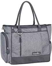 BABYMOOV Essential Bag-Diaper Tote with Changing Pad, Shoulder Strap and 3 Piece Baby Travel Accessories, Petrol