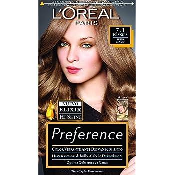 Tinte Capilar Permanente Preference L Oréal Paris 7.1 Rubio Cenizo ... baad0e721094