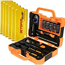 Professional Precision Screwdriver Set (45 in 1) and Cell Phone Repair Tool Kit for Mobile Smartphone, iPad, Computer, Laptop, Electronics (6pcs Octopus Microfiber Bonus)