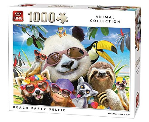 King Puzzle Animals 1000pc - Beach Party Selfie by KING