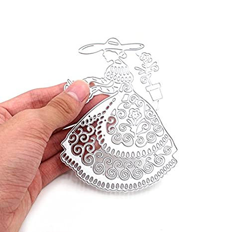 DIY de cortapastas flor plantilla de repujado de metal para álbum Scrapbooking tarjeta de papel Arte Manualidades Decoración molde plantilla 9 estilos: ...