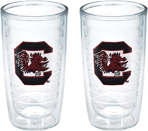 (Tervis South Carolina Gamecock Emblem Tumbler (Set of 2), 16 oz, Clear -)