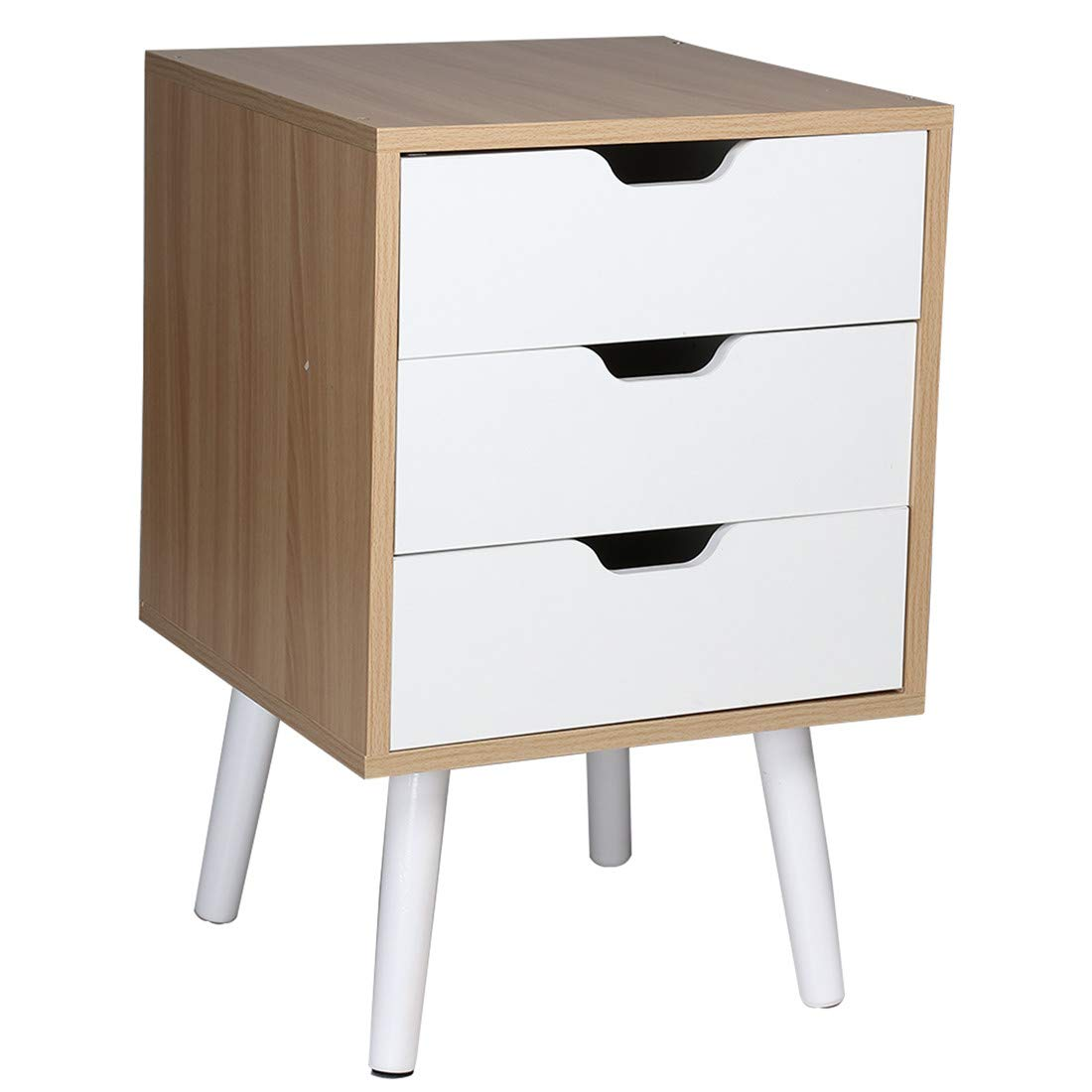 Pair of High Gloss Bedside Cabinet Two Drawer Tea Bedroom Chest Draw Units Table