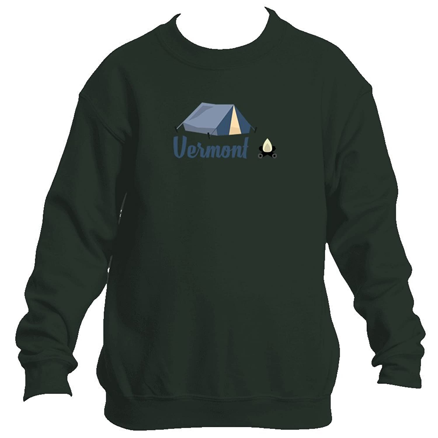 Top Camping & Camp Fire - Vermont Youth Fleece Crew Sweatshirt - Unisex free shipping