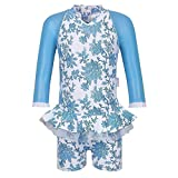 Sun Emporium Baby Girls Blue Paisley Long Sleeved UPF50+ Swimsuit 6-12M