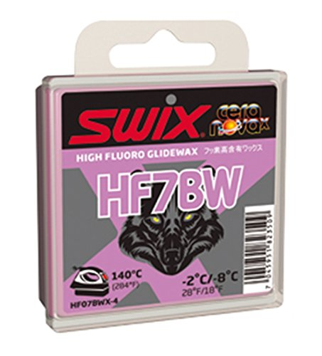 Swix HF07BWX-4 Cera Nova X High Fluoro Wax with BW Additive, Violet, 40gm by Swix