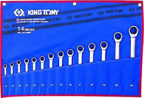 king tony 12114MR Trousse de Clés Mixtes à Cliquet Métriques, Set de 14