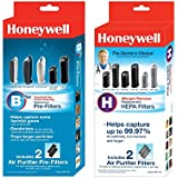 Honeywell Air Purifier Filters + Carbon Filters Bundle . Made Specifically for Honeywell Tower Air Purifiers