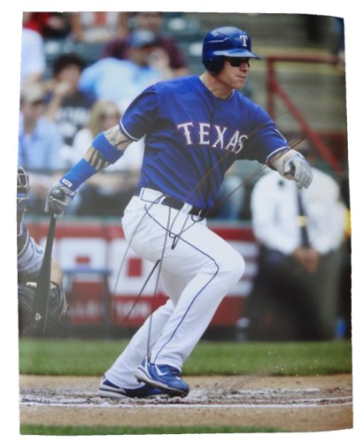 Josh Hamilton Autographed Texas Rangers 11x14 Photo W/PROOF, Picture of Josh Signing For US, Texas Rangers, Cincinnati Reds, 2010, 2011 World Series, 2010 AL MVP