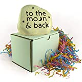 """Heavy Little Engraved Valentine Stone """"to the moon and back"""""""