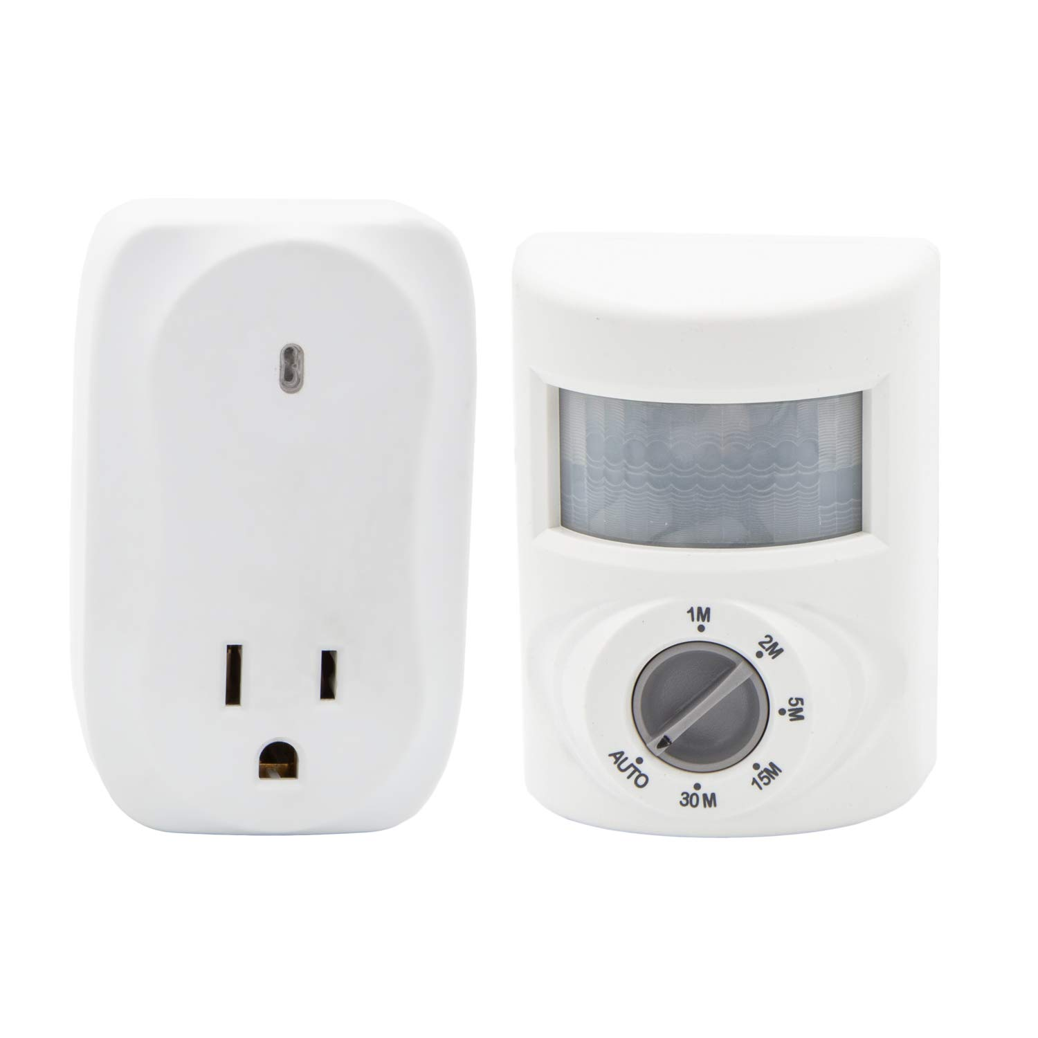 Battery Powered Outlet >> Maxxima Wireless Motion Sensor Plug In Outlet Wall Mount