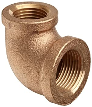 "Brass Pipe Fitting, Class 125, 90 Degree Reducing Elbow, 1"" x 3/4"" NPT Female"