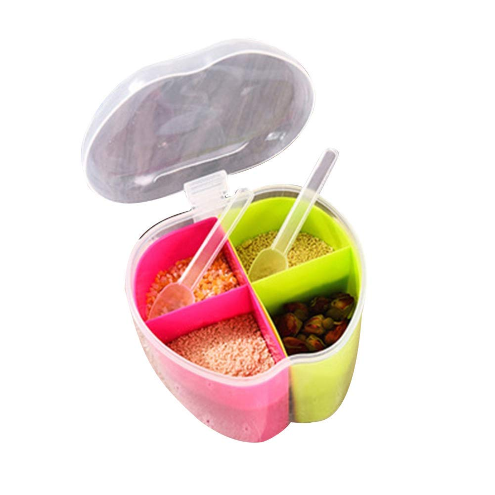 Yevison Removable Seasoning Box Condiment Spice Storage Case Holder Jar Kitchen Tool 3 Durable and Useful