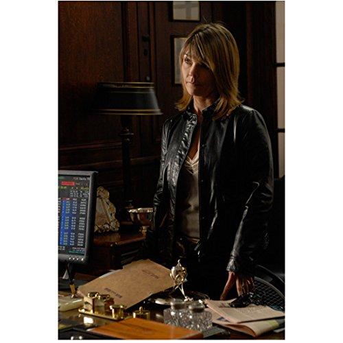Eames Unit Desk (Law & Order Criminal Intent Eames in leather jacket at desk 8 x 10 Inch Photo)