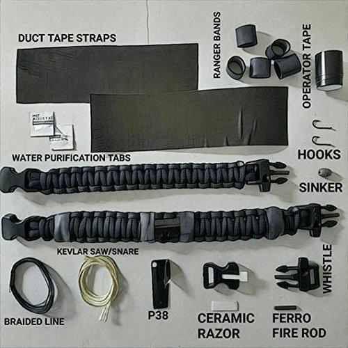Scout Slimline: Minimalist's Paracord Bracelet for Survival Essentials - Fire, Water, Food, Shelter.