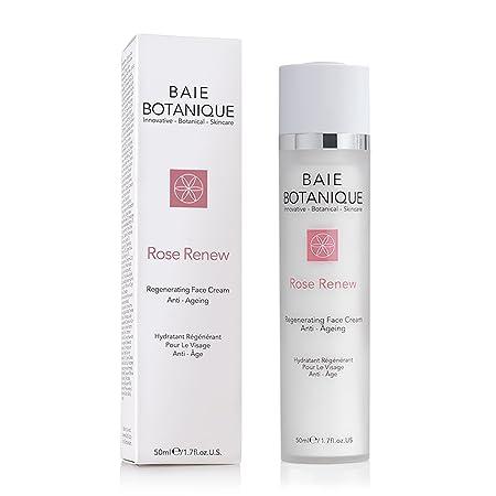 Baie Crema facial Agua de Rosa - Hidratante y Anti-arrugas Poder Esencial de las Plantas - Tu Piel se Ve y se Siente como Nueva El