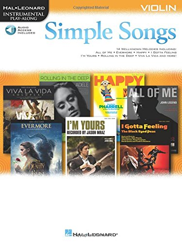 (Simple Songs: Violin (Hal Leonard Instrumental Play-Along))