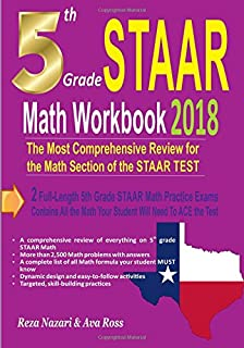 Texas test prep practice test book staar reading grade 5 test 5th grade staar math workbook 2018 the most comprehensive review for the math section of fandeluxe Images