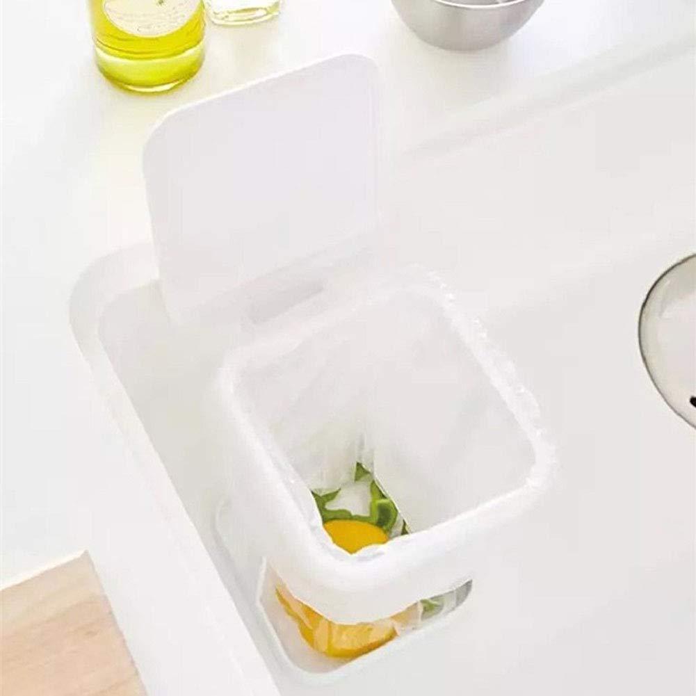 encimera Creativo para Cocina Papelera KENANLAN Basura Basura port/átil Cubo de Basura con Tapa abatible