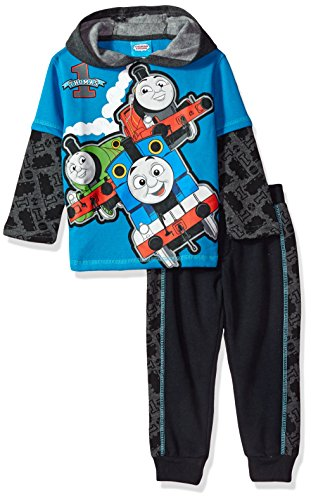 Thomas The Train Toddler Boys' 2 Thomas Fleece Set with Piecing, Blue, 2t